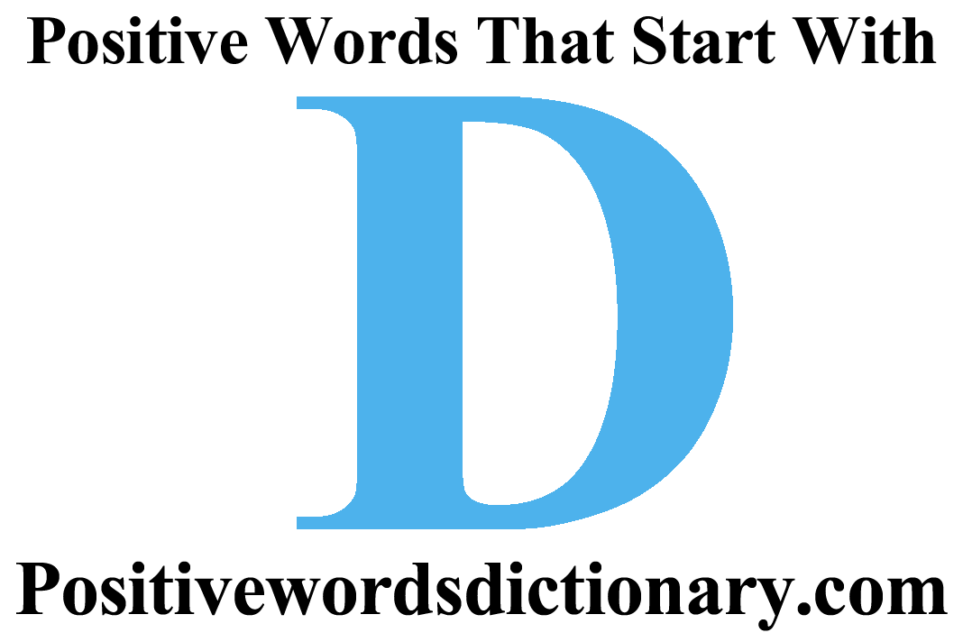 positive words that start with d featured image | Positive words starting with d