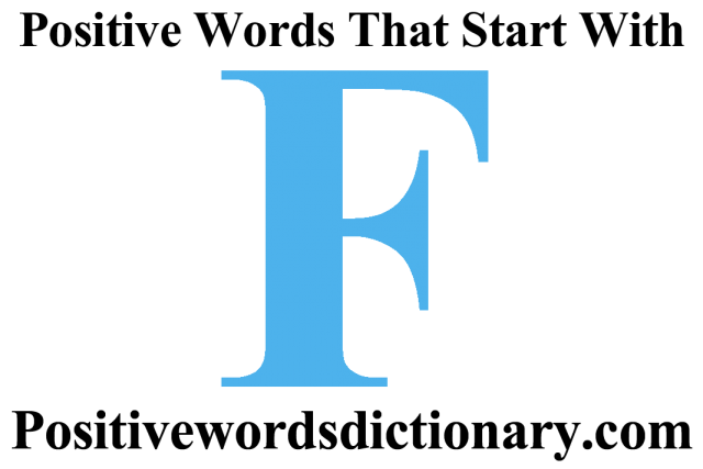 positive words that start with f featured image