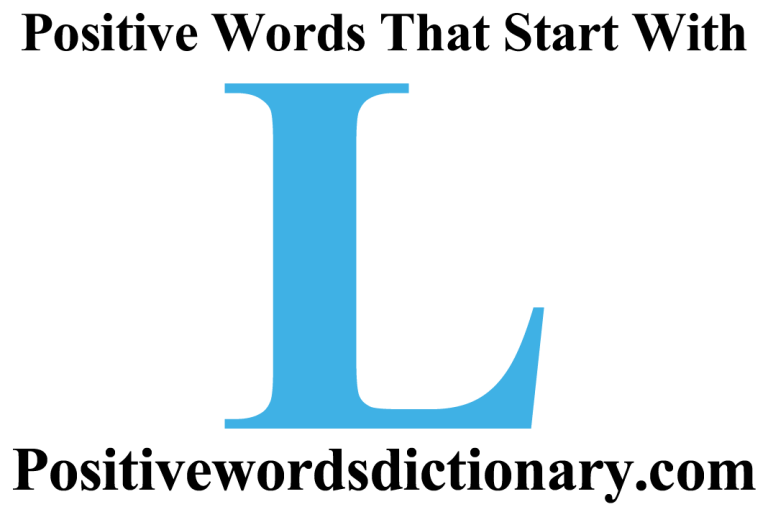Positive words that start with L