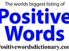 Positive words list