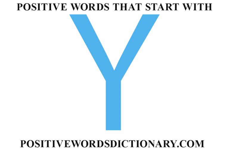 Positive words that start with y