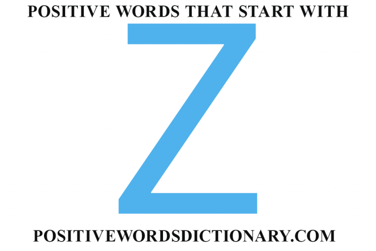 Positive words that start with z