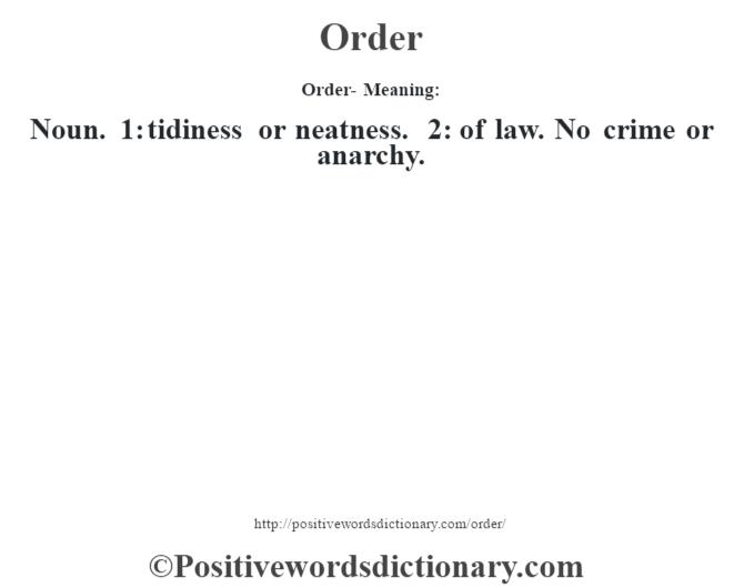 order definition