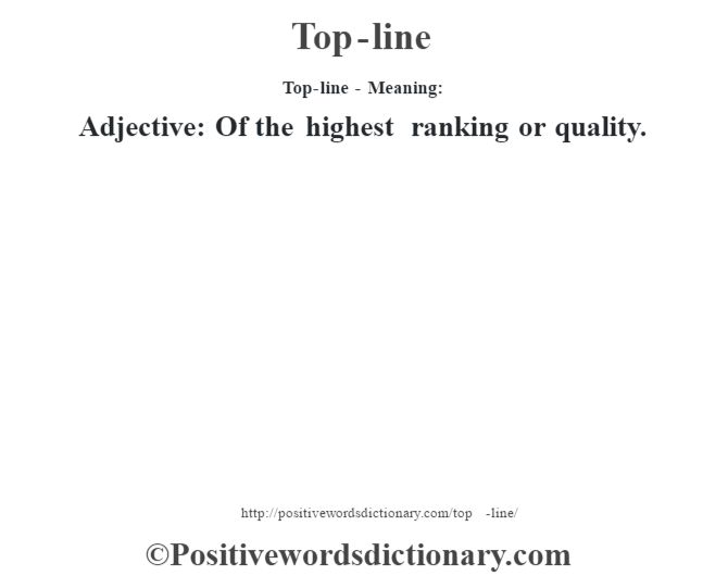 Top-line - Meaning: