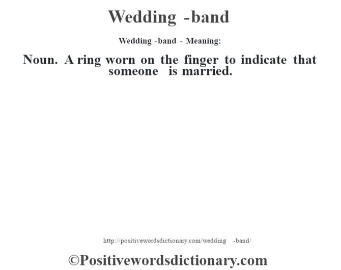 Nouns To Describe A Wedding Ring