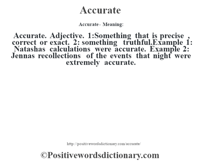 Accuracy | Definition of Accuracy by Merriam-Webster