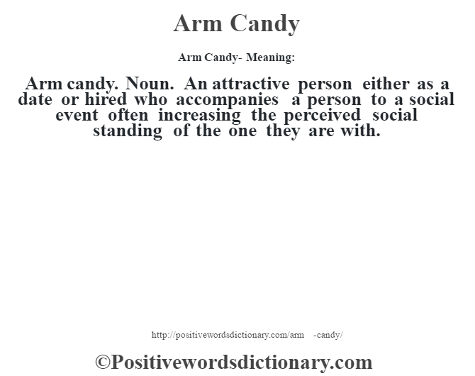 arm candy dating