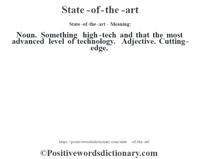 state of the art definition state of the art meaning