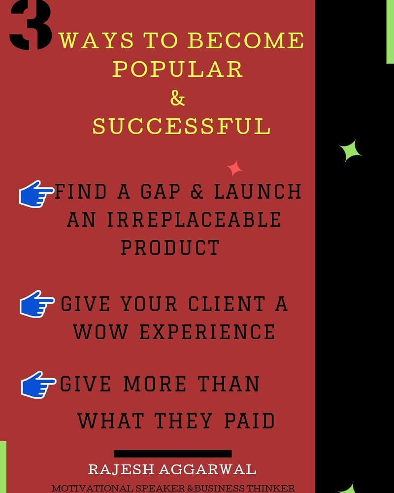 3 ways to become popular successful Find a Gap.com