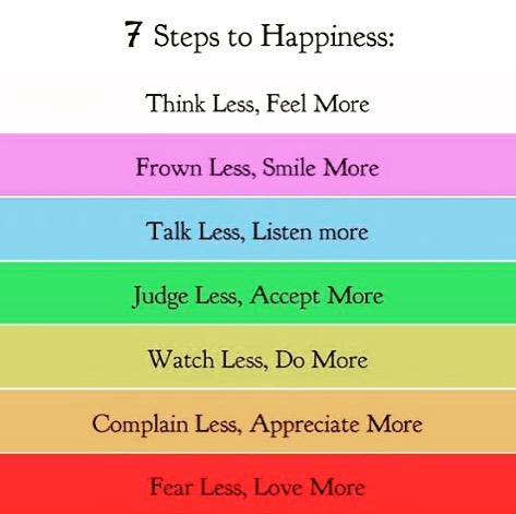7 Steps for Happiness Thoughts we can all live by.com